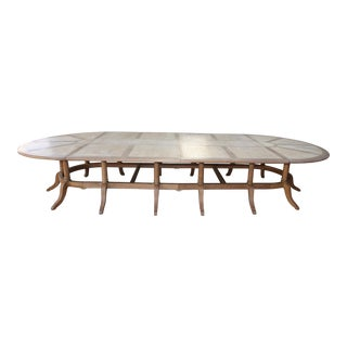 English Inlaid Dining Table With Leaves