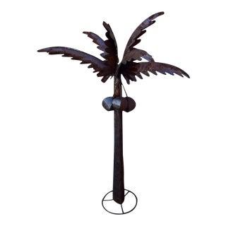 Metal Palm Tree Sculpture