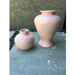 Image of Vintage Shagreen Embossed Vases - Pair
