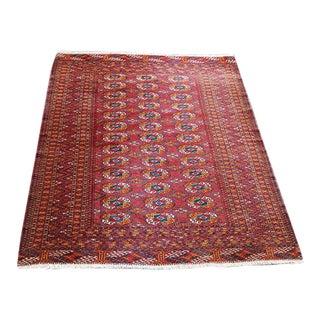 Persian Turkman Wool Rug - 4′6″ × 5′1″