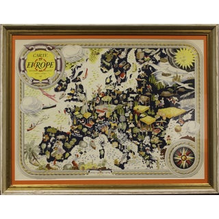Carte D' Europe Map by Pierre Herault