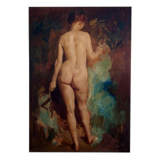 Early 20th century Large Nude Oil