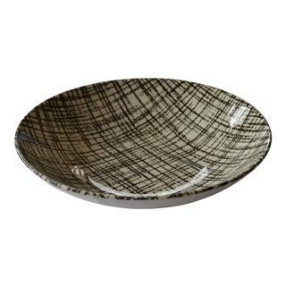 Mid-Century Plaid Texture Serving Bowl