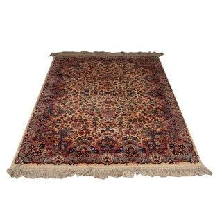 Vintage Karastan Kirman Wool Rug - 4′4″ x 5′8″