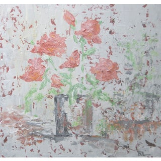 Apricot Rose Bouquet-C. Plowden Abstract Painting