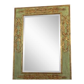 Green & Gold Framed Mirror