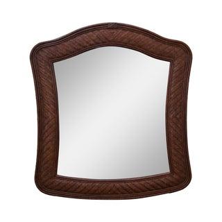 Lexington Tommy Bahama Rattan Frame Beveled Mirror