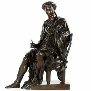 19th Century Bronze Sculpture of Classical Poet Horace