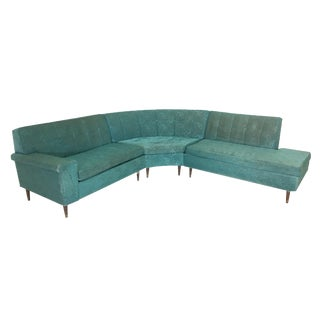 Vintage Retro 3 Piece Sectional Sofa