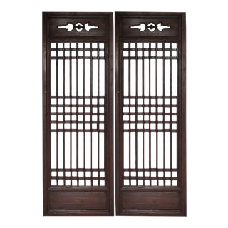 Chinese Antique Window Screens - A Pair