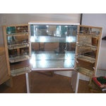 Image of Important Rose Mirrored Dry Bar By E. Largano (Signed)