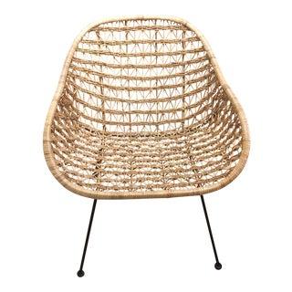 Modernist Wicker Shell Chair