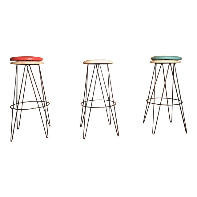 Arthur Umanoff Bar Stools - Set of 3 - Image 1 of 3