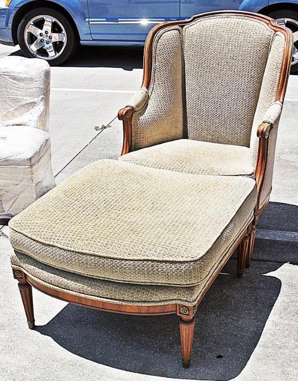 louis xvi style duchesse brisee chaise ottoman a pair chairish