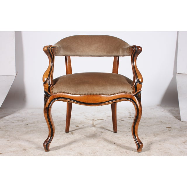 Danish Walnut Library Chair - Image 2 of 4