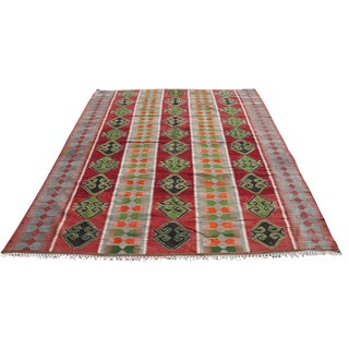 Vintage Turkish Kilim Rug - 6′7″ × 10′1""