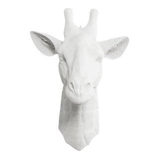 Wall Charmers White Faux Giraffe Bust
