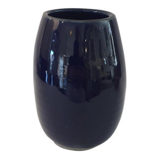 Blue Stone Glass Vase