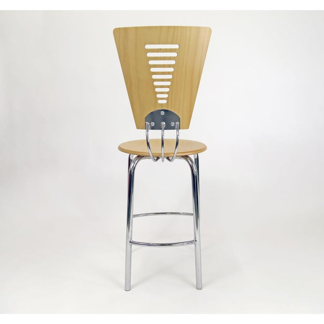 Vintage Post Modern Memphis Era Barstools - A Pair - Image 5 of 10