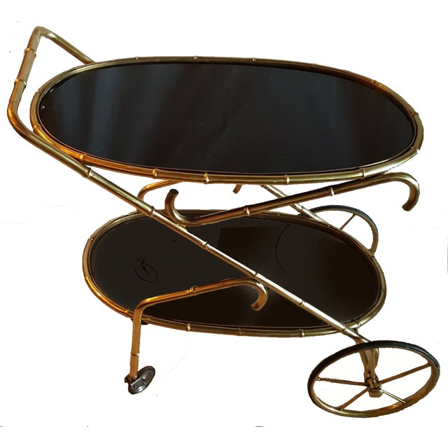Vintage Maison Bagues French Oval Bar Cart - Image 1 of 7