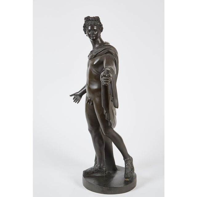 Late 19th Century French Bronze Sculpture of Apollo Belvedere - Image 5 of 6
