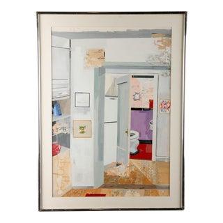 """Marcia Blum """"Interior"""" Oil Painting"""