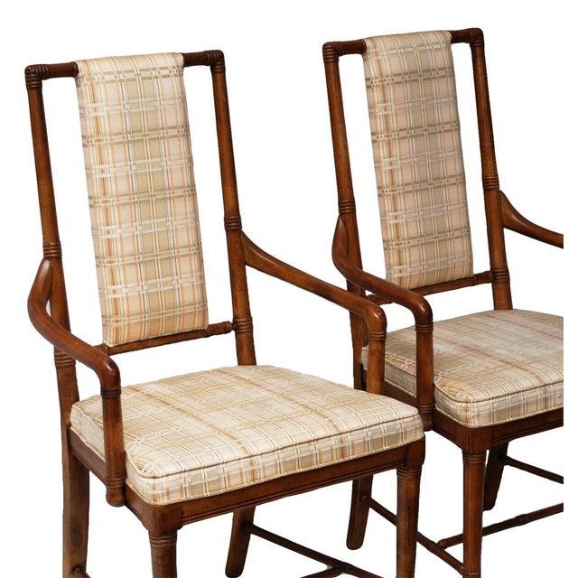 Pair of Vintage Hollywood Regency Armchairs by Drexel Heritage - Image 6 of 10