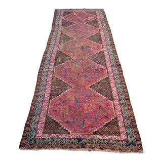 "Persian Antique Handmade Runner Rug -- 3'3"" x 10'5"""