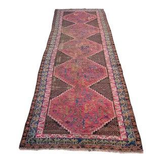 "Persian Antique Handmade Runner Rug -- 3'3"" x 10'5"""