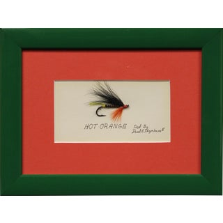 Framed Hot Orange Trout Fly Custom Framed!~