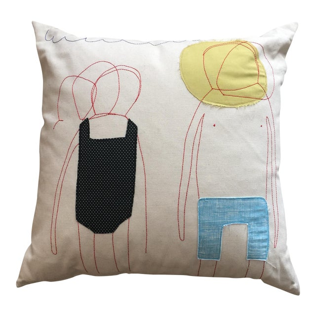 Studio K Sunburnt Man & Woman Accent Pillow - Image 1 of 5