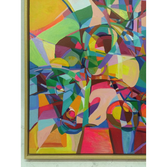 Image of Cheerful Cubist Inspired Abstract Painting by Nich