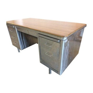 Wood Top Steelcase Desk