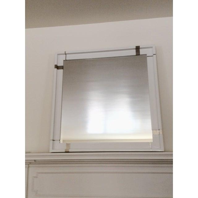 Kallista Laura Kirar Vir Stil White Lacquer Mirror - Image 2 of 7