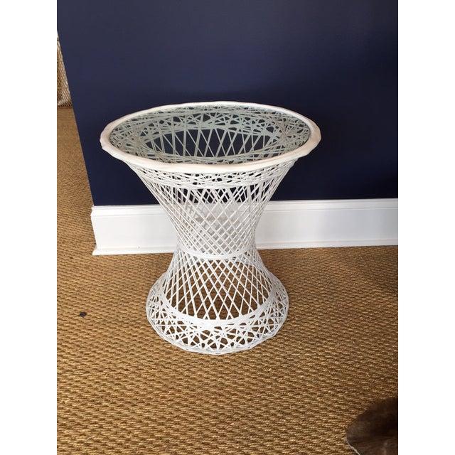 Image of White Spun Fiberglass Table