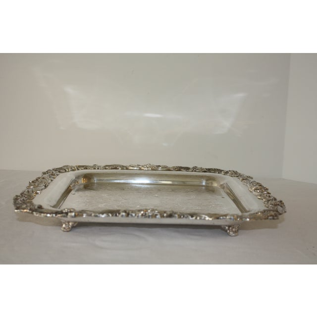 Footed Square Silver Tray - Image 3 of 5