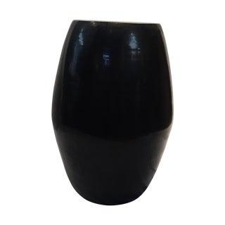 Vintage Black Ceramic Garden Seat/Accent Table
