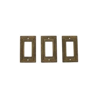 Vintage Brass Light Switch Plates