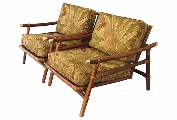Ficks Reed Bamboo Lounge Chairs