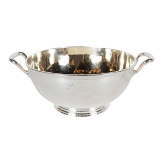 Gorgeous Art Deco Silver Plate and Gilt Bowl by Maison Christofle