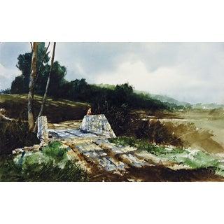 David Nichols Stone Bridge Watercolor Painting
