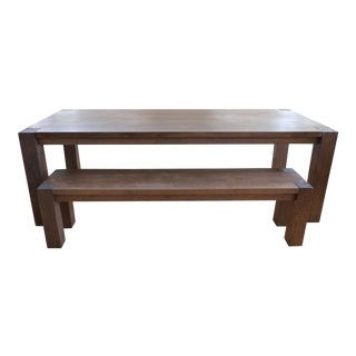Crate & Barrel Big Sur Dining Table with bench