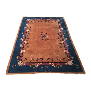 Antique Art Deco Chinese Rug - 6′ × 8′6″