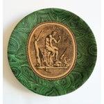 Image of Vintage Piero Fornasetti Malachite Plates - Pair