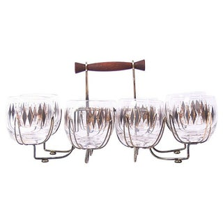 Old Fashioned Glass 9 Piece Bar Set