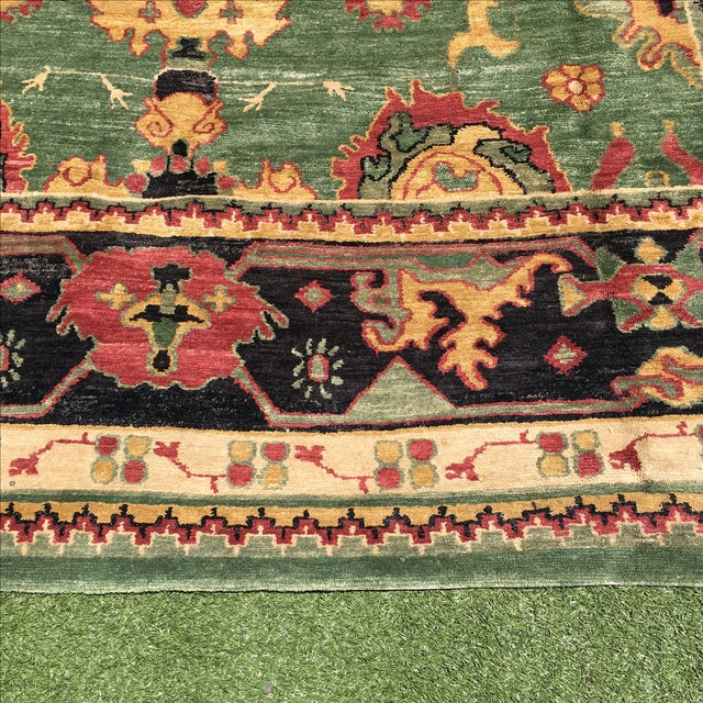 Large Handknotted Nepalese Rug - 9′ × 11′9″ - Image 9 of 11