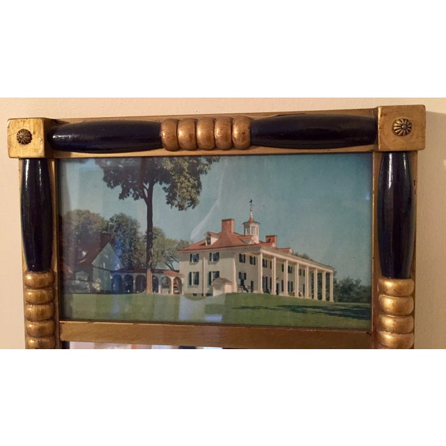 Antique Sheraton Federalist Style Mirror of Washington's Mount Vernon - Image 3 of 8