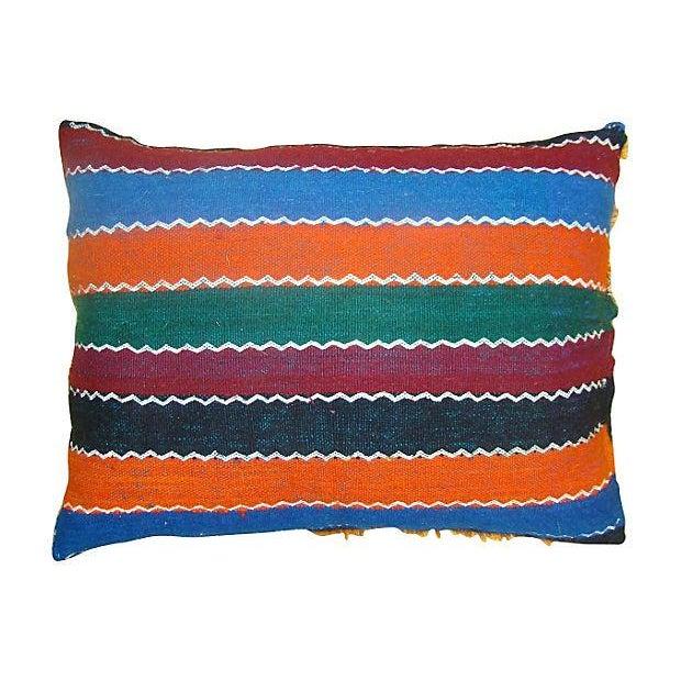 Image of Blue & Orange Moroccan Sham Pillow