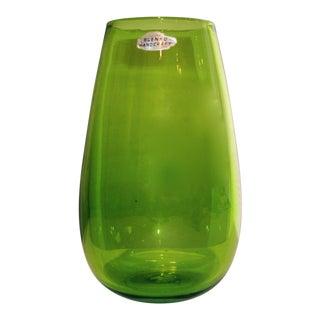 Blenko Green Art Glass Vase