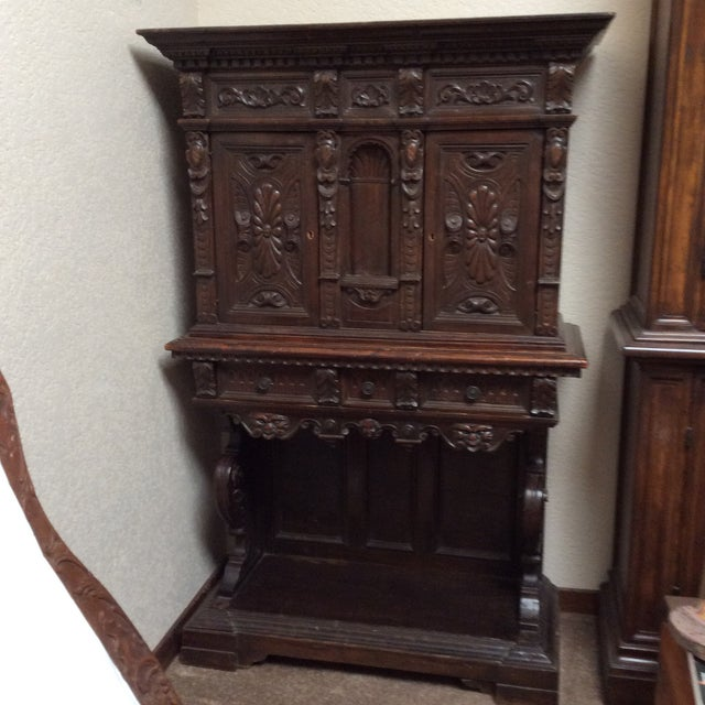 Mediterranean Style Antique Elements Cabinet - Image 3 of 11